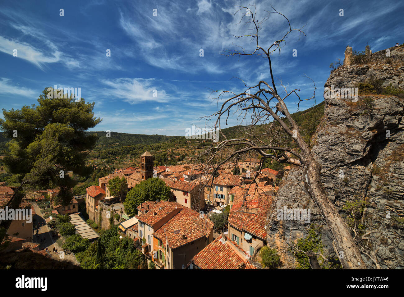 Moustier sainte-Marie In france, Lovely town Stock Photo