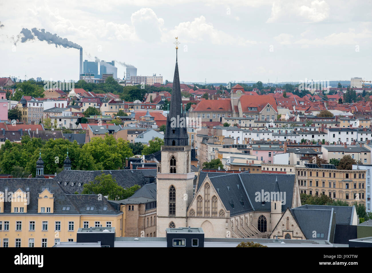 The KölnTurm as part of the Urban regeneration at Media Park in Neustadt-Nord, Cologne, Germany. - Stock Image