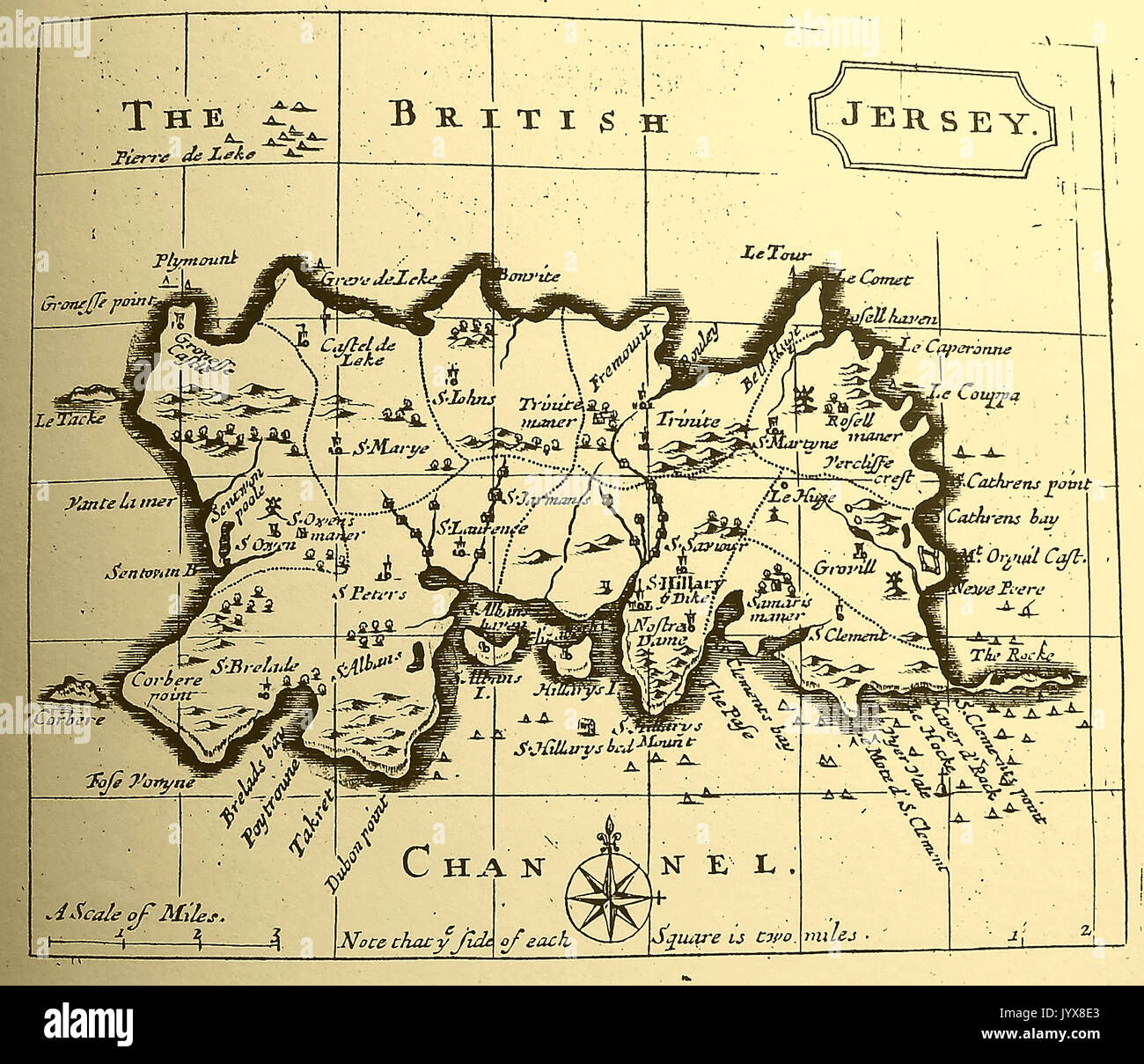 Map Of Uk Including Jersey.A 1778 Map Of Jersey Channel Islands Uk Stock Photo 154856075 Alamy