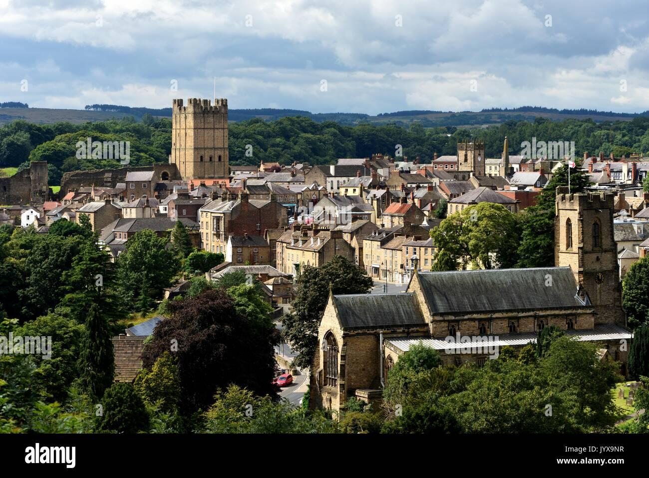 Richmond North Yorkshire - Stock Image
