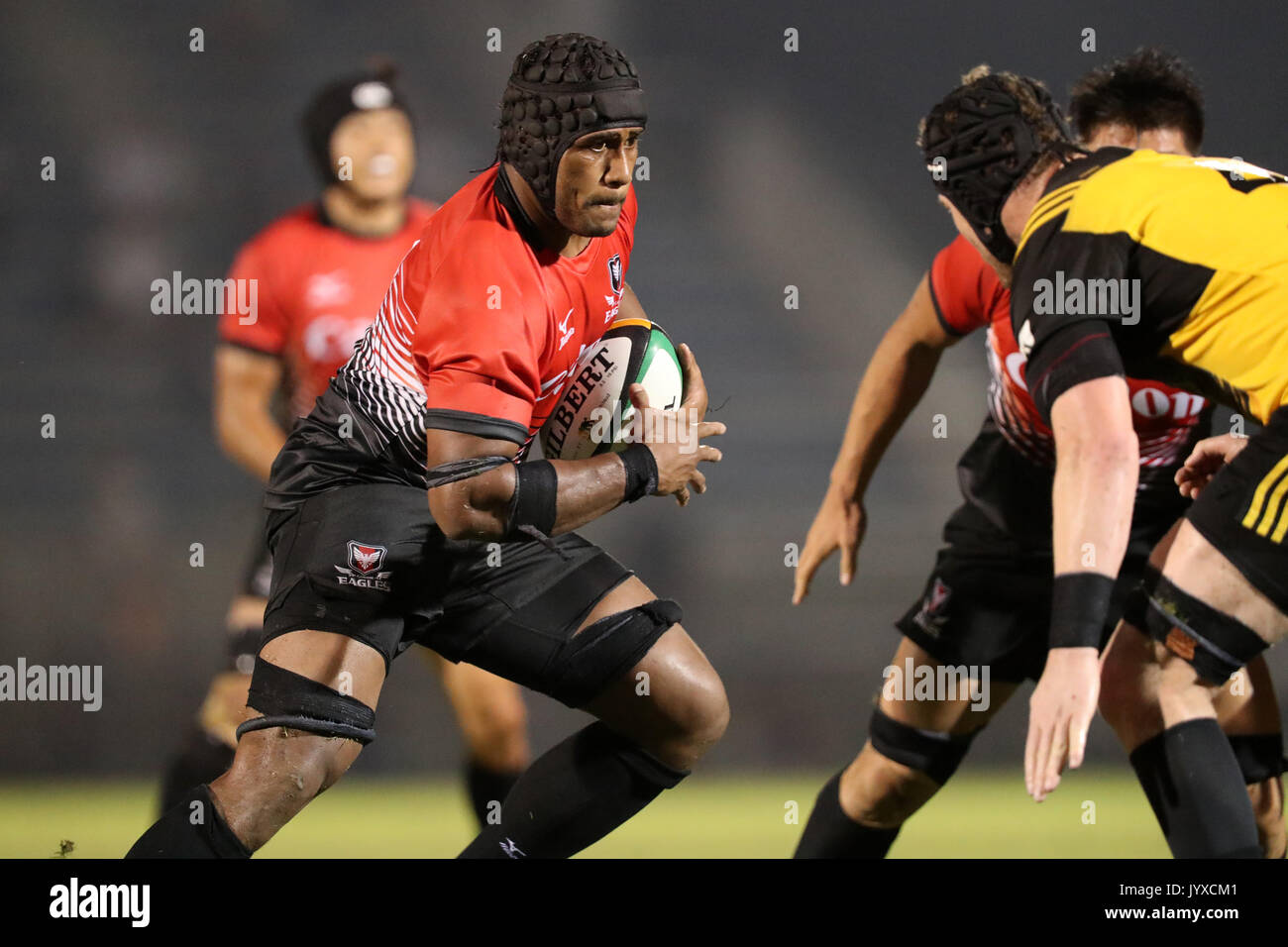 Tokyo, Japan. 18th Aug, 2017. Finau Tupa () Rugby : Japan Rugby Top League 2017-2018 match between Canon Eagles Stock Photo