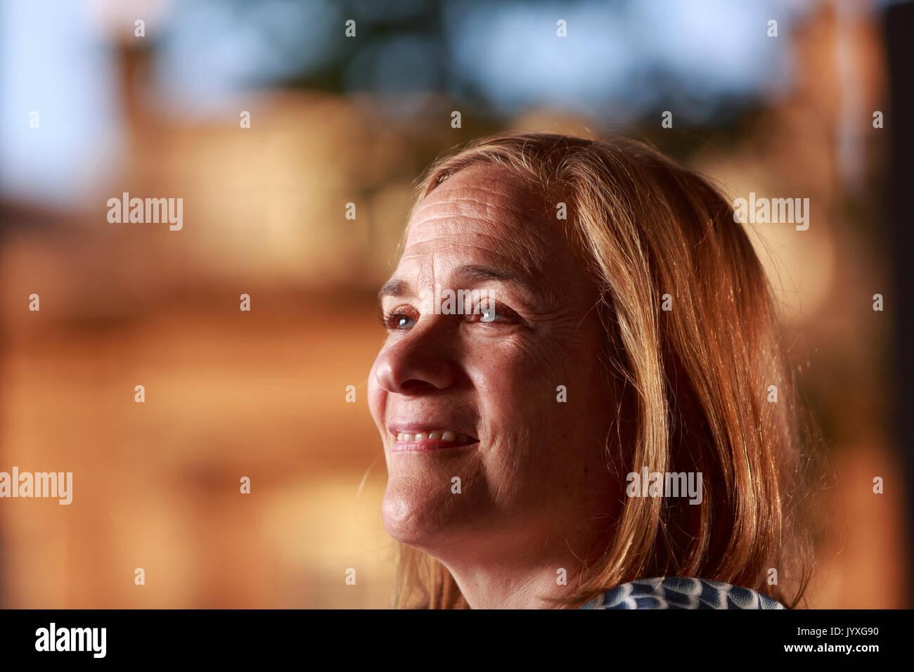 Edinburgh, Scotland, UK. 20th Aug, 2017. Day 9 Edinburgh International Book Festival. Pictured: Tracy Chevalier, American-British historical novelist. She has written eight novels. Credit: Pako Mera/Alamy Live News - Stock Image