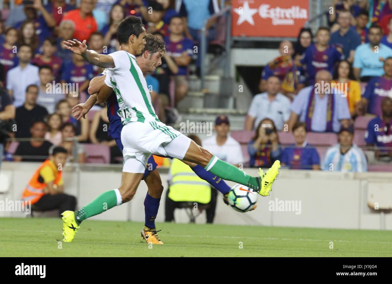 Sergi Roberto in action during La Liga game between FC Barcelona v Betis at Camp Nou - Stock Image