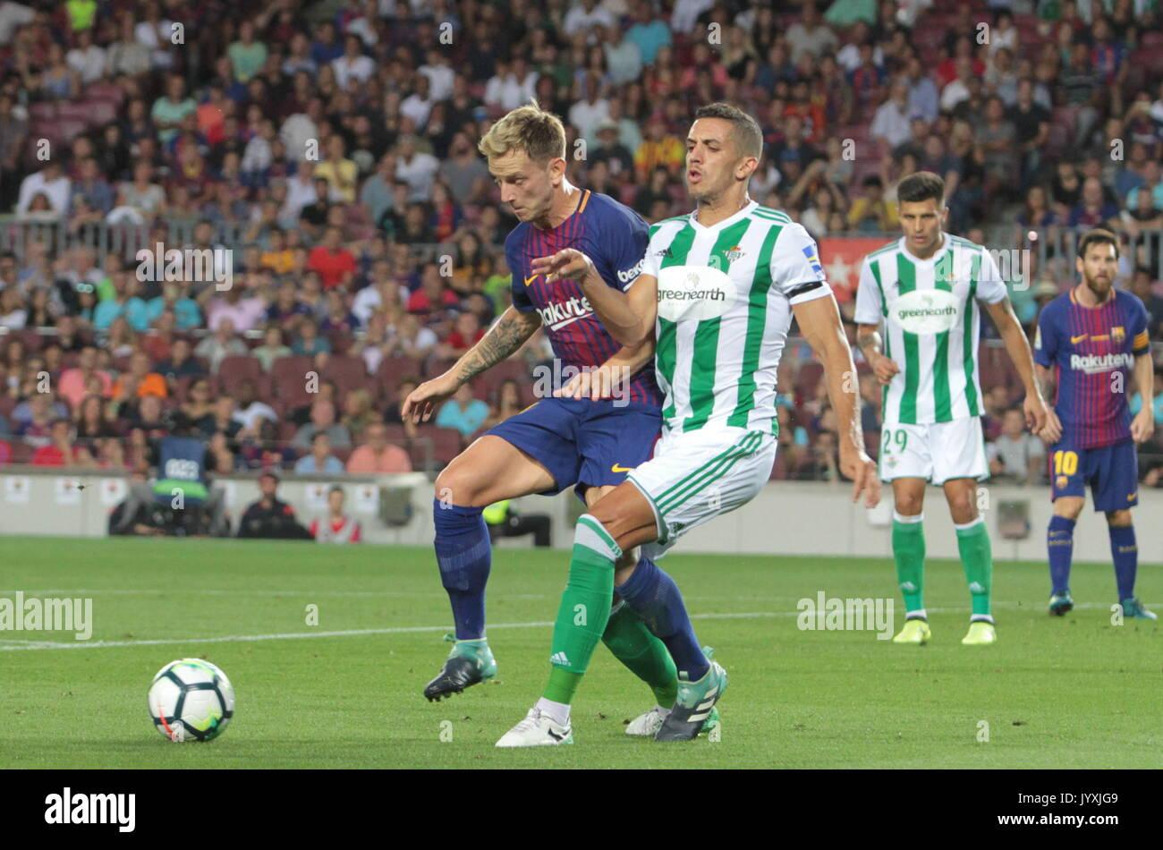 Rakitic in action during La Liga game between FC Barcelona v Betis at Camp Nou - Stock Image