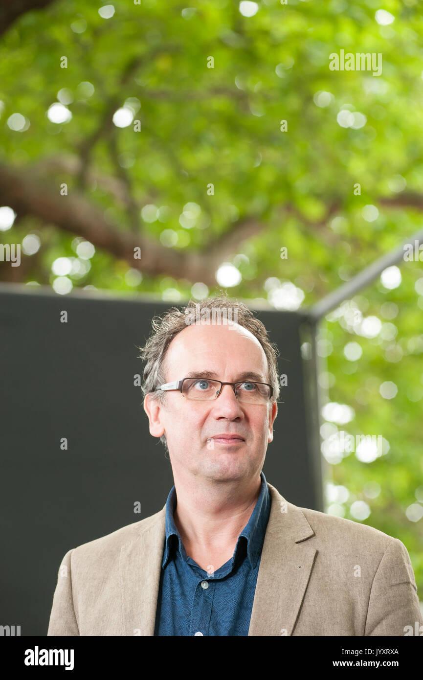 Edinburgh, UK. 21st August 2017. German author Volker Kutscher, appearing at the Edinburgh International Book Festival. Stock Photo