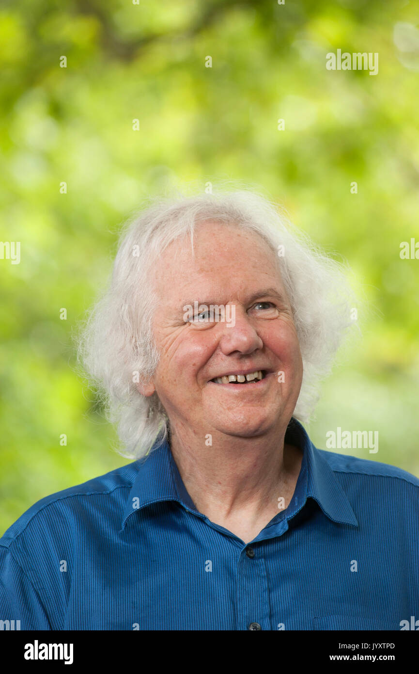 Edinburgh, UK. 21st August 2017. Scottish poet and novelist who was Edinburgh Makar from 2008-14, Ron Butlin, appearing Stock Photo
