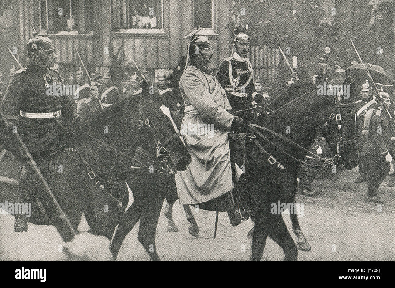 Kaiser Wilhelm going to the front, WW1 - Stock Image
