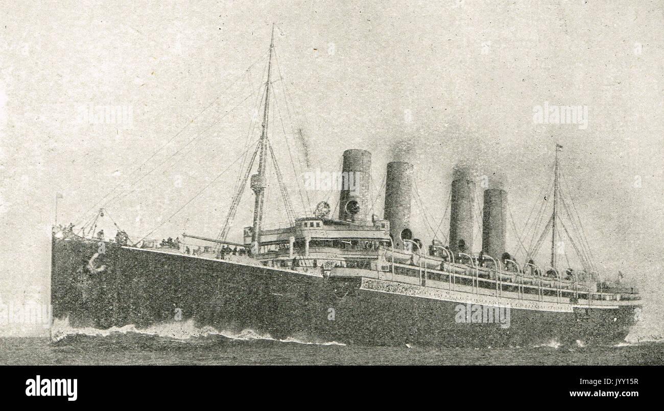SS Kaiser Wilhelm der Grosse, sunk 1914, WW1 - Stock Image