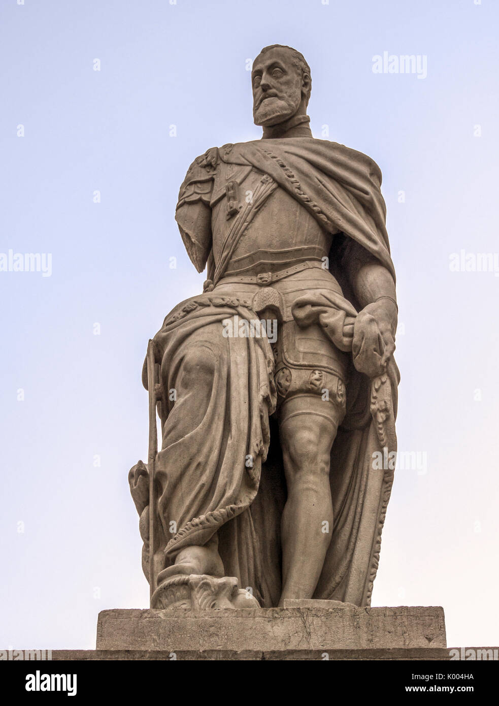 GRANADA,SPAIN:  Statue of  Charles I of Spain in Plaza Universidad - Stock Image
