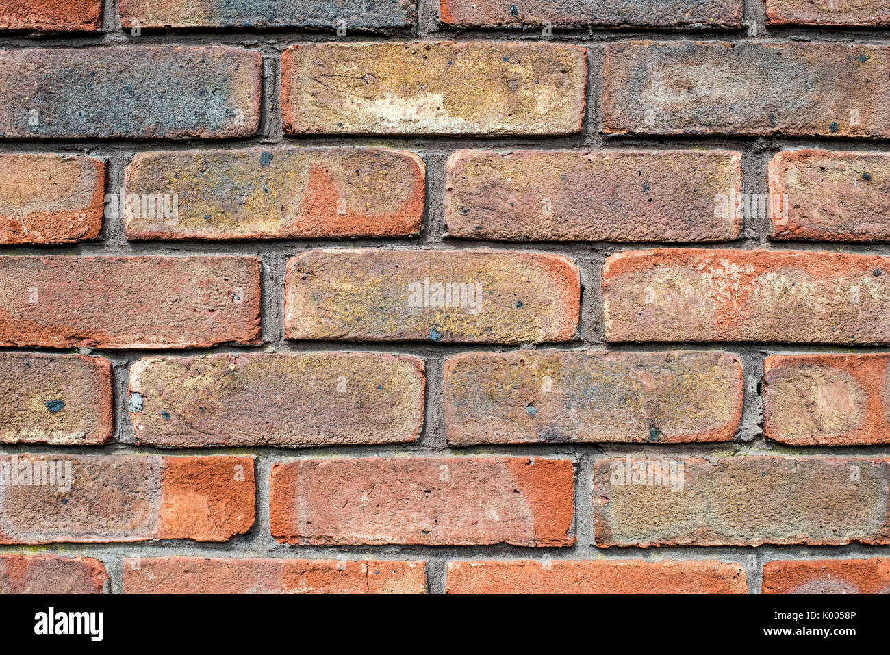 Brickwork or Brick Wall Textured Background In A Building - Stock Image