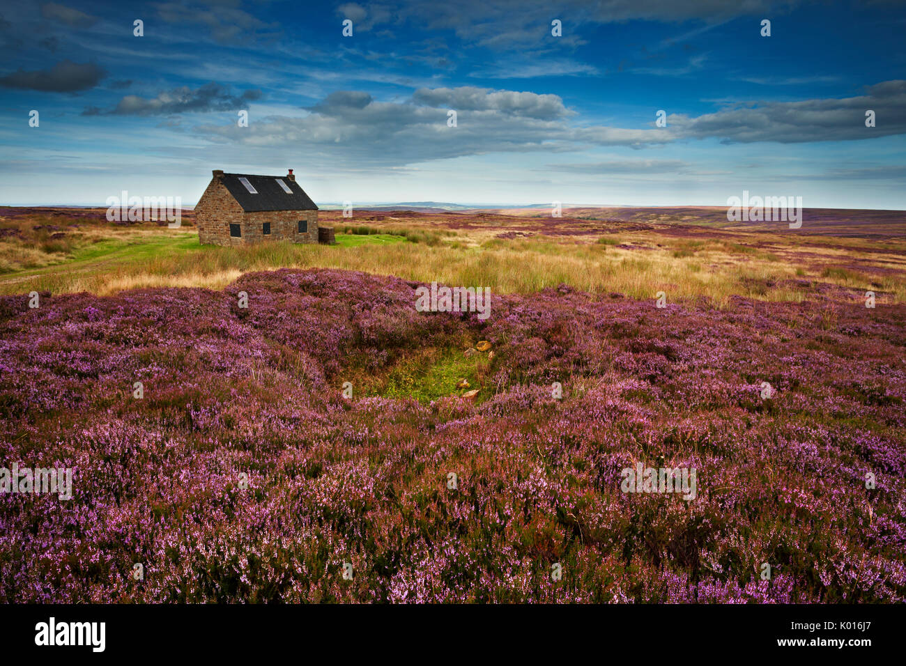 Trough House, Shooting Lodge above Fryupdale in the North York Moors. - Stock Image