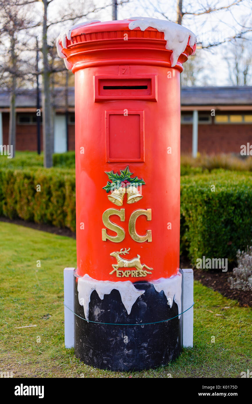 letters to santa mailbox for sale postbox stock photos amp postbox stock 24455 | red post box for children to post letters to santa claus K0175D