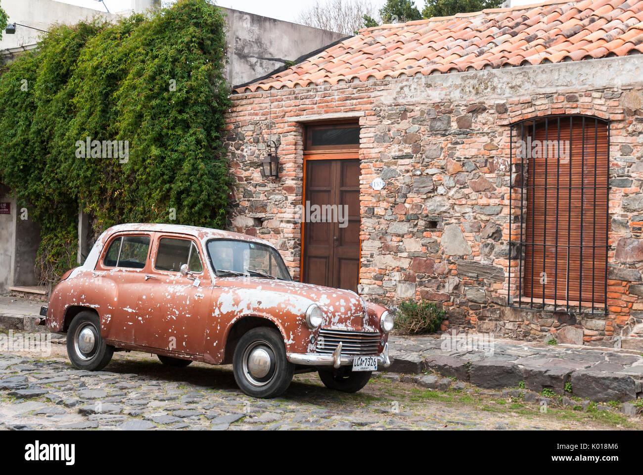 Vintage Car In Colonia Uruguay Stock Photos & Vintage Car In Colonia ...