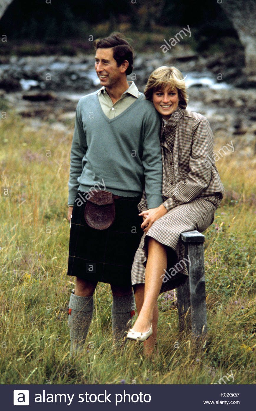 """File photo dated 19/08/81 of the Prince and Princess of Wales in Balmoral. Diana, Princess of Wales was a woman whose warmth, compassion and empathy for those she met earned her the description the """"people's princess"""". - Stock Image"""