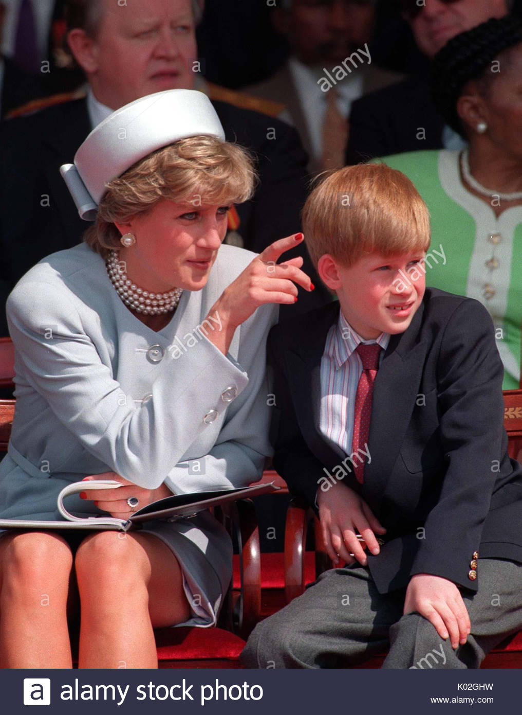 """File photo dated 07/05/95 of Diana, Princess of Wales with her son Prince Harry. Diana, Princess of Wales was a woman whose warmth, compassion and empathy for those she met earned her the description the """"people's princess"""". - Stock Image"""
