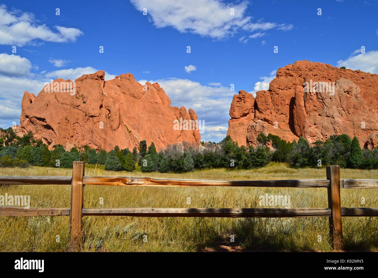 Garden of the Gods, Colorado Springs, Colorado. Stock Photo