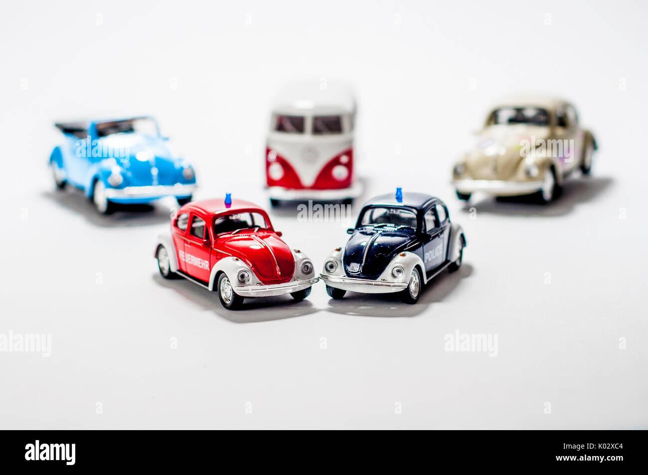 Classic VW old car, VW Beetle, VW T1, VW Bug, VW Kafer, Car model - Stock Image