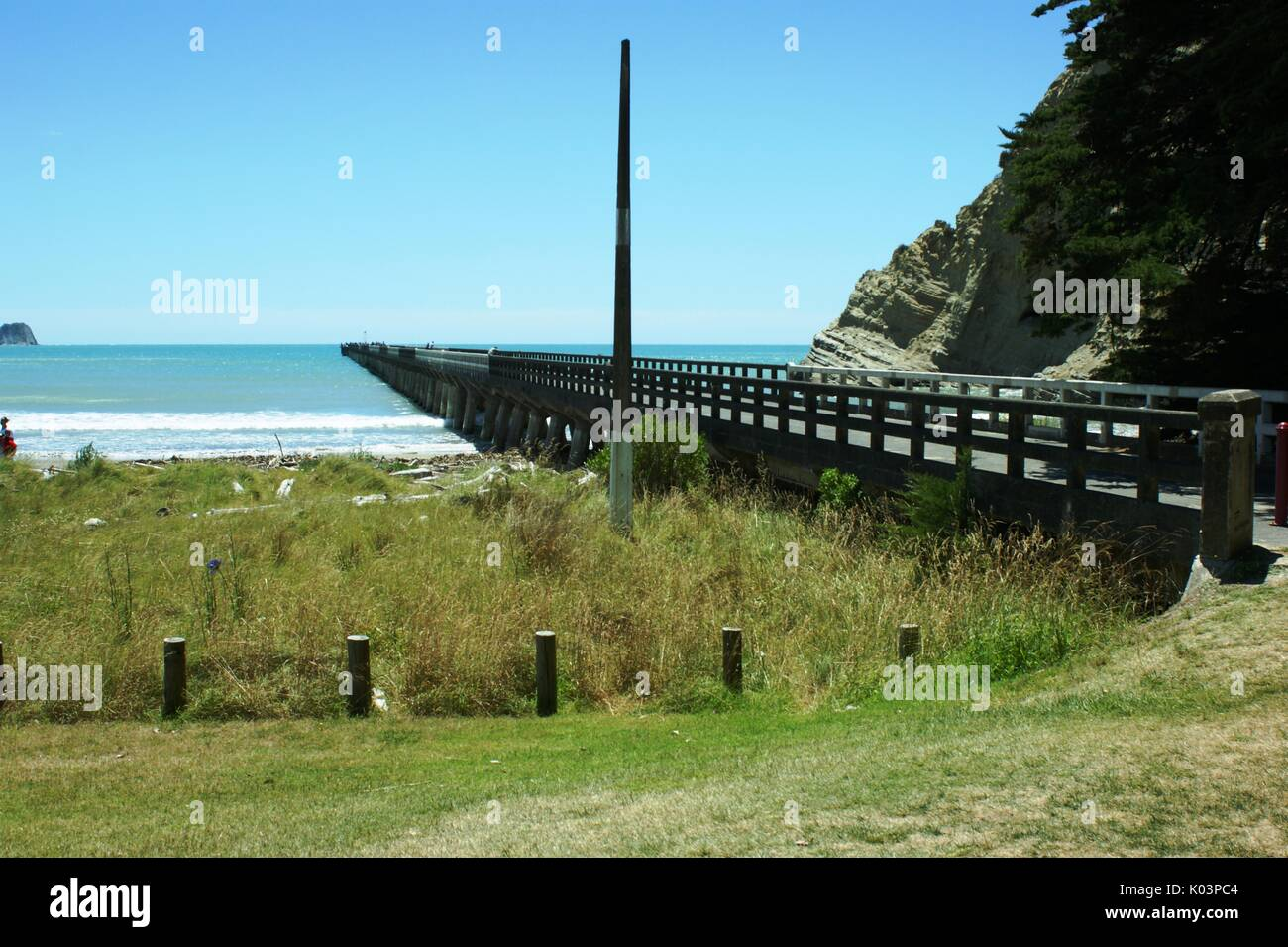 The pier at Tolaga Bay New Zealand - Stock Image