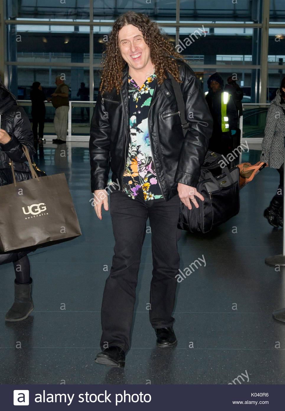 Weird Al Yankovic. Weird Al Yankovic arriving at JFK airport in New ...