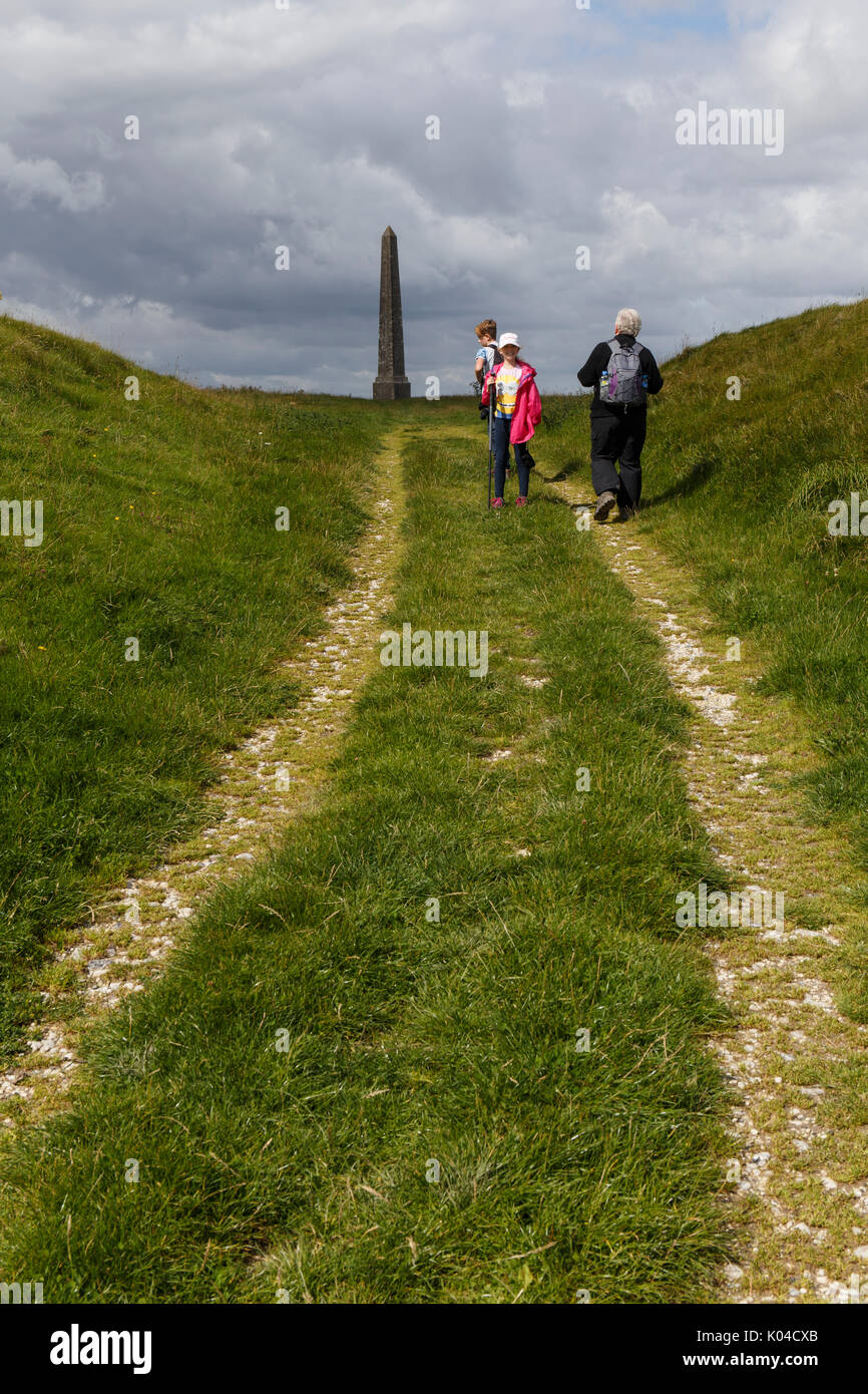 Lansdowne Monument on Cherhill downs Wiltshire UK Stock Photo