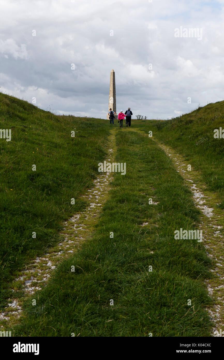 Lansdowne Monument on Cherhill downs Wiltshire UK Stock Photo
