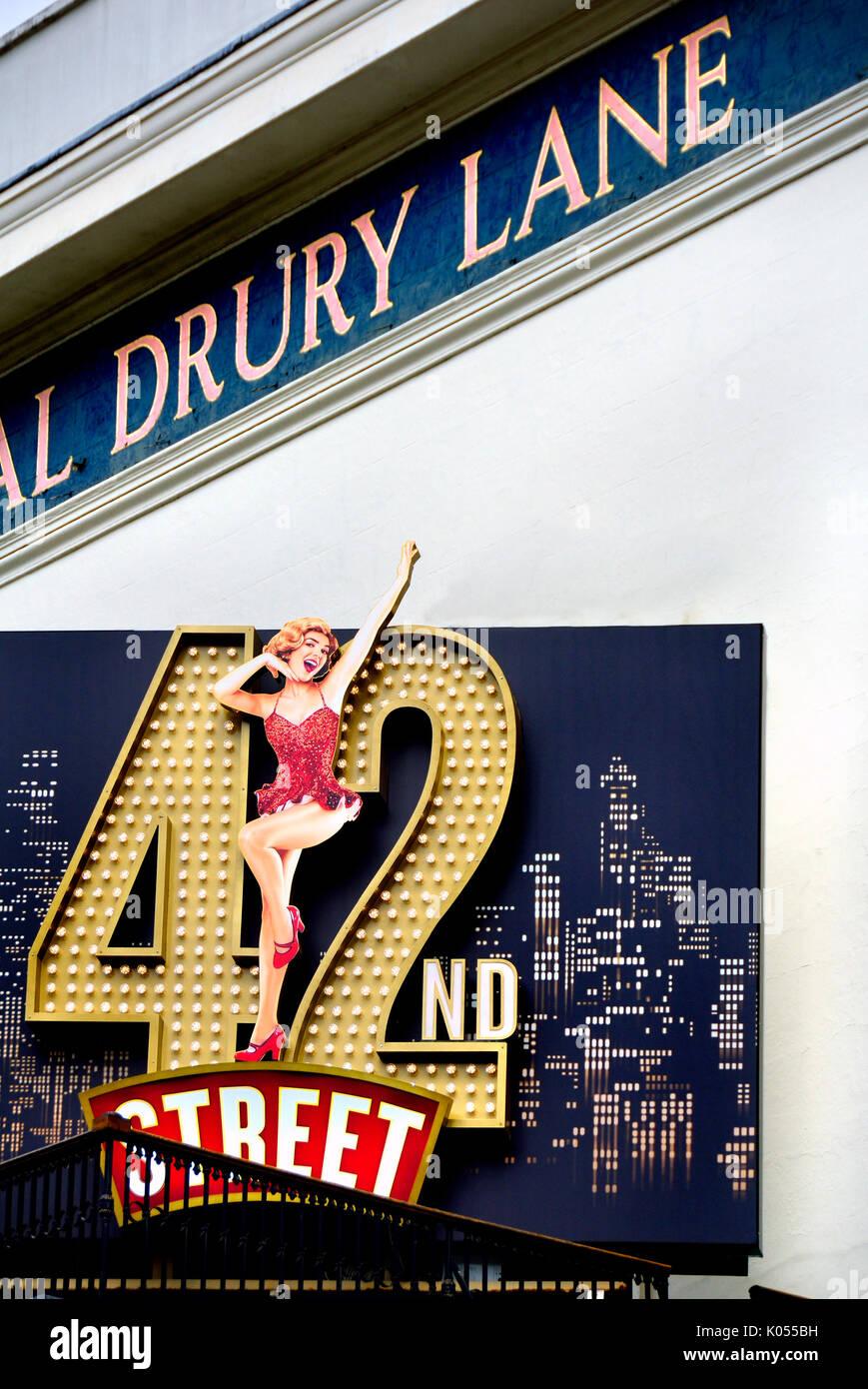 London, England, UK. '42nd Street' at the Theatre Royal Drury Lane (Aug 2017) - Stock Image