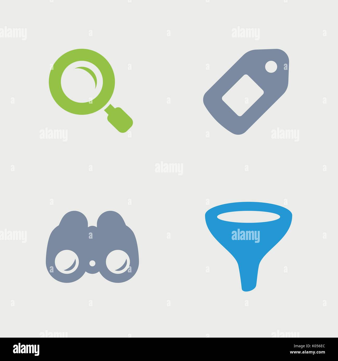 A set of 4 professional, pixel-perfect icons designed on a 32x32 pixel grid. - Stock Vector