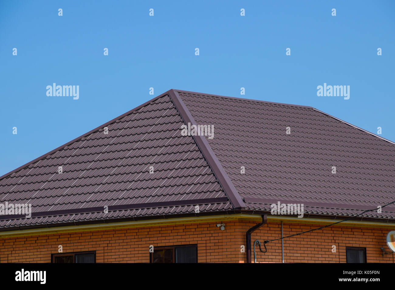 Roof metal sheets modern types of roofing materials stock for Modern roofing materials