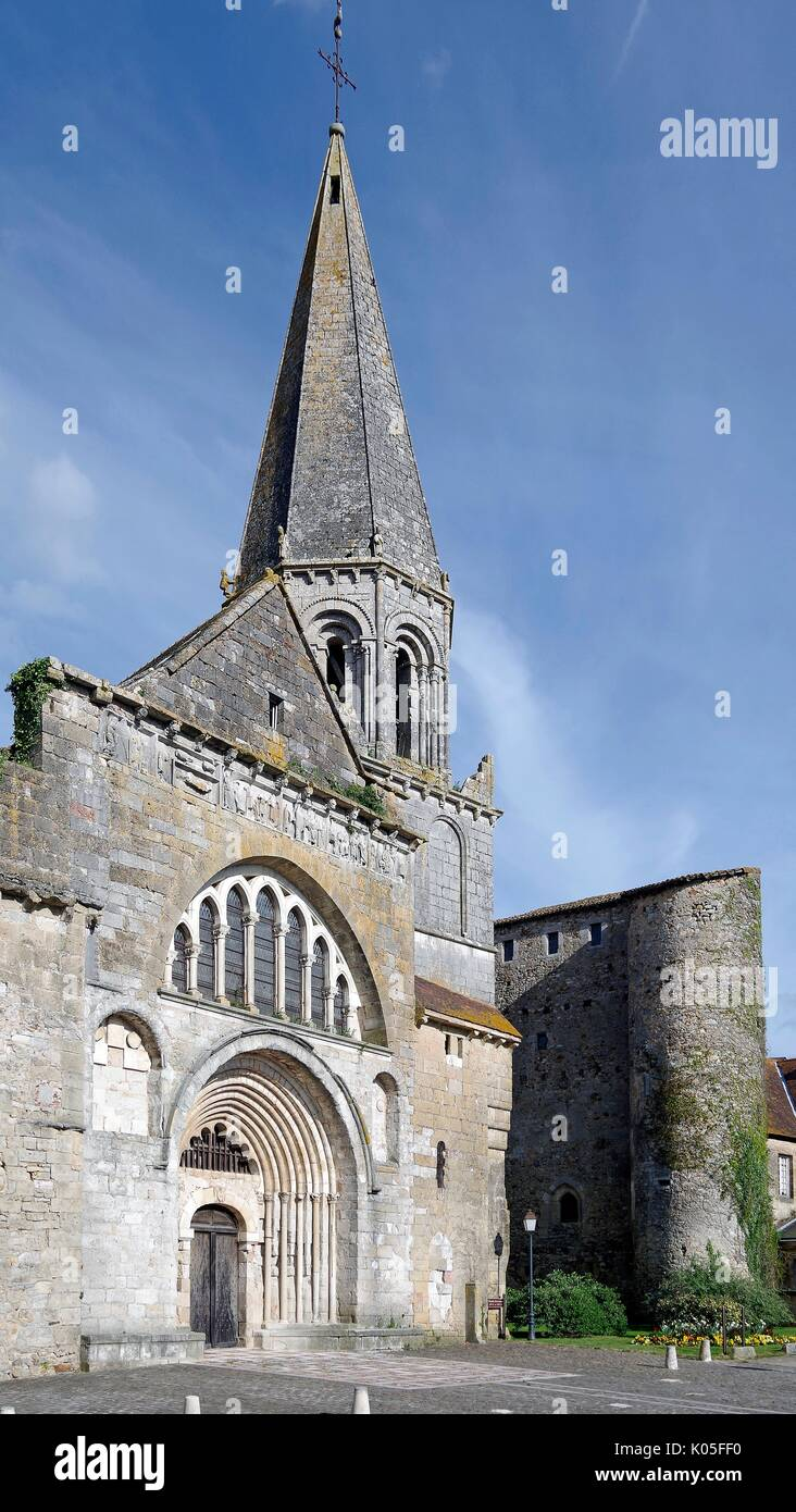 Church, or Chapel of St Laurent, Montmorillon, France - Stock Image