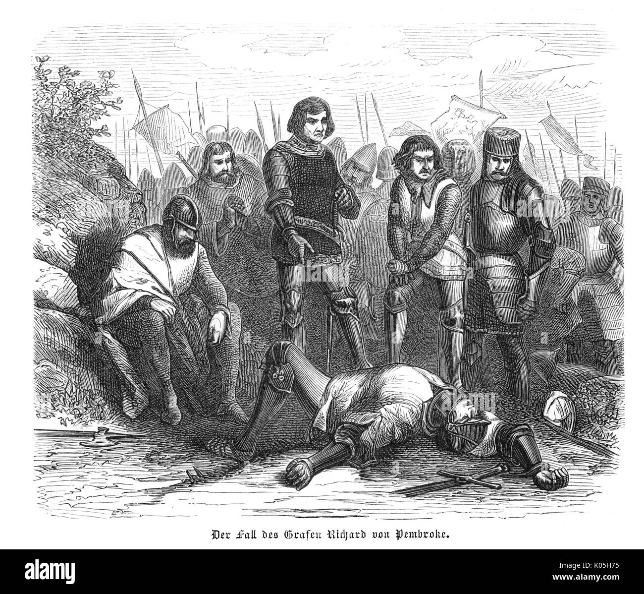 Richard, the 3rd earl of Pembroke, is killed at Kildare        Date: 1234 - Stock Image