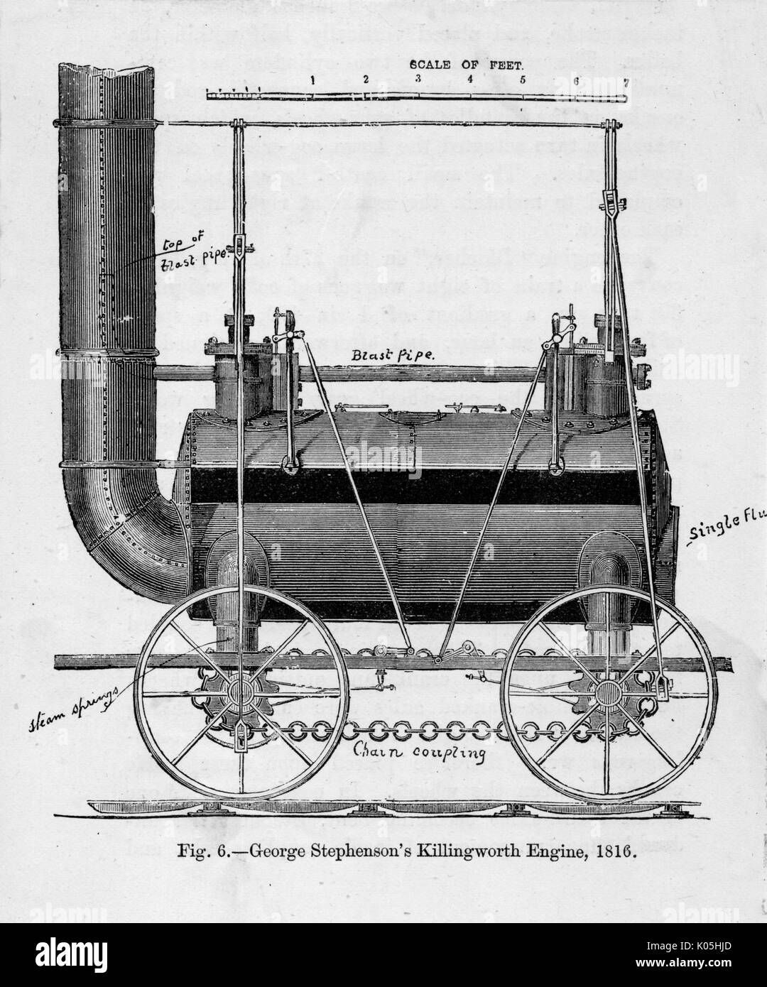 Killingworth locomotive         Date: 1816 Stock Photo