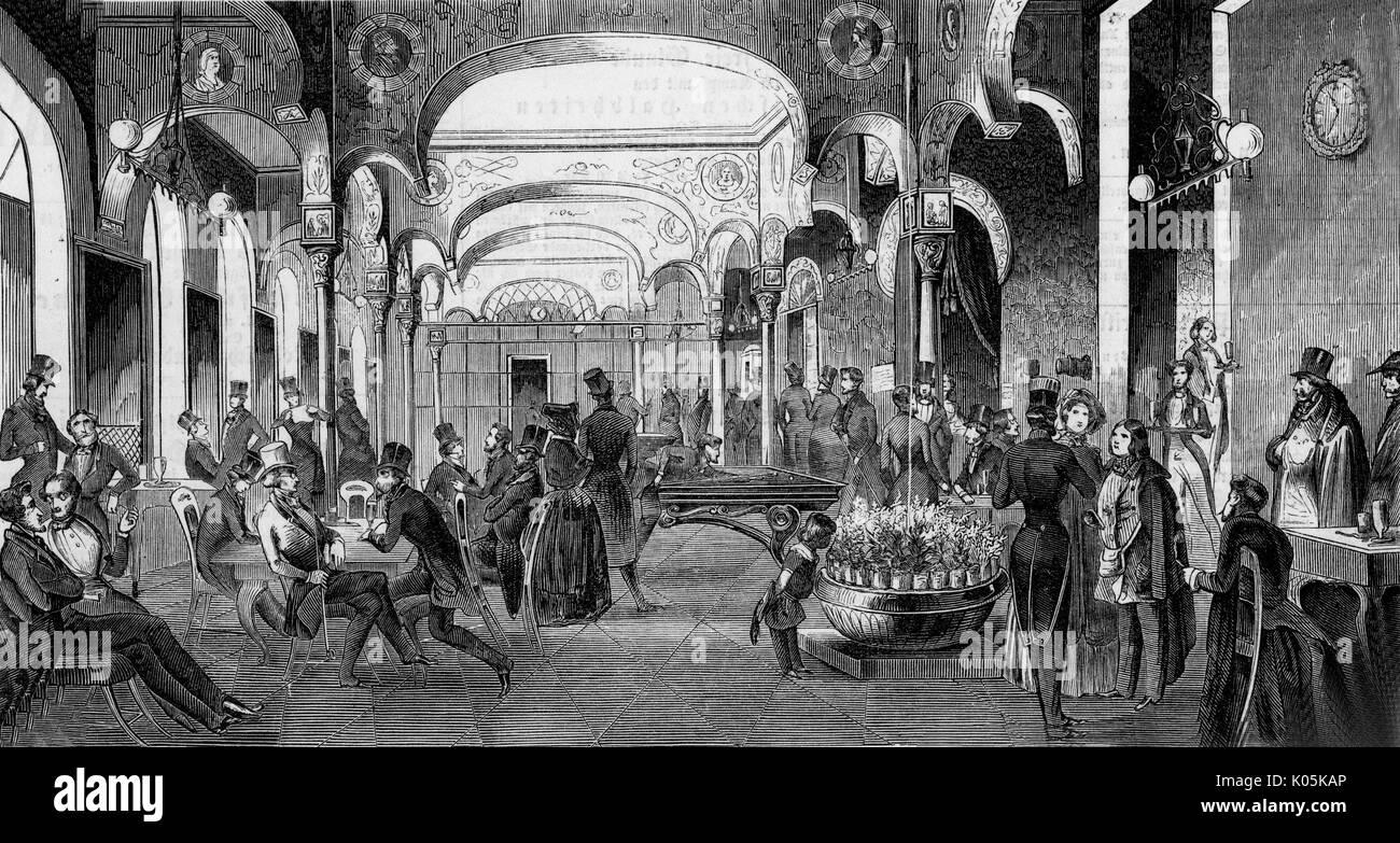 Das CAFEHAUS in Prague railway  station         Date: 1846 Stock Photo