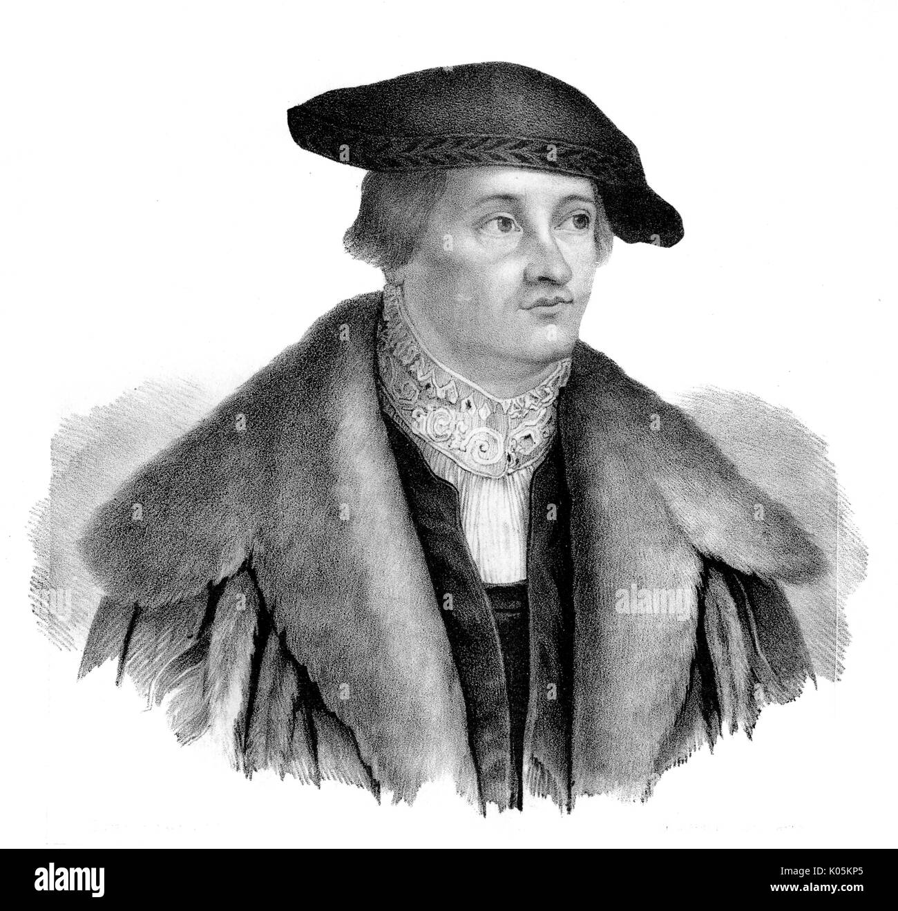 Georg Spalatin (Burckhardt) (1484 - 1545), German reformer, associated with Luther       Date: - Stock Image