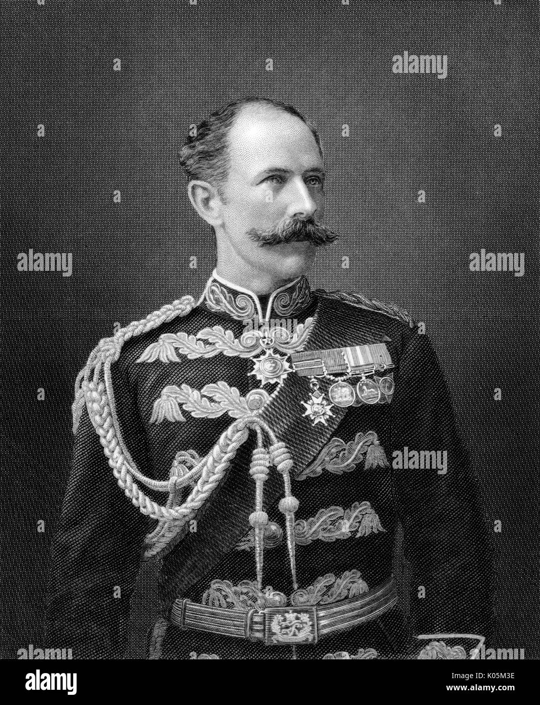 Sir Herbert Stewart (1843 - 1885), Major-General in the British  army. Fatally wounded during  the Sudan campaign Stock Photo