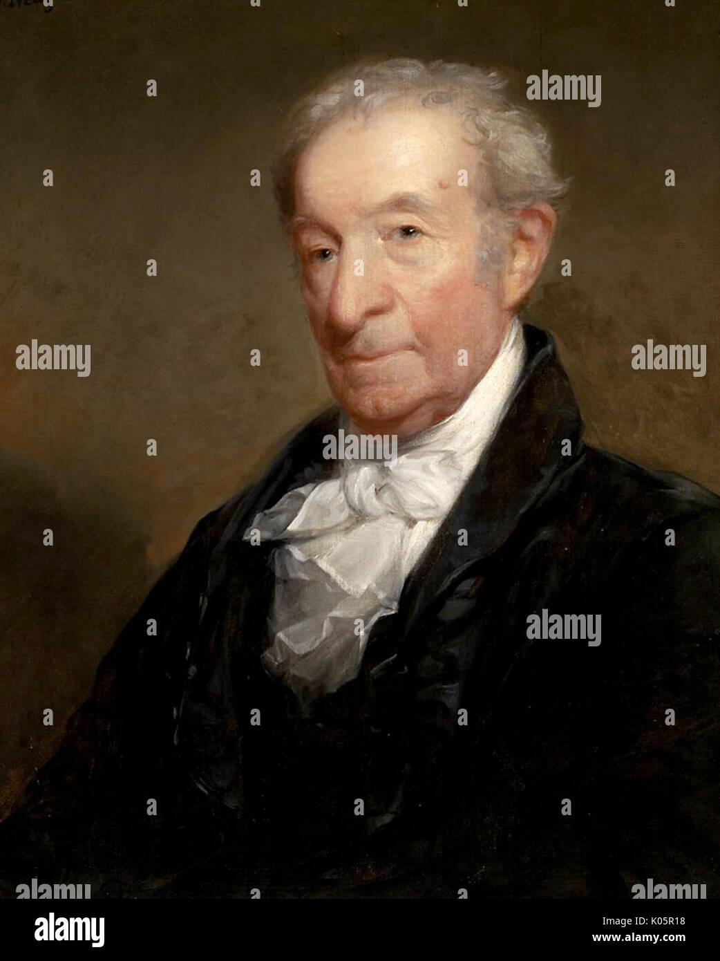 Gilbert Charles Stuart, American artist, painter - Stock Image