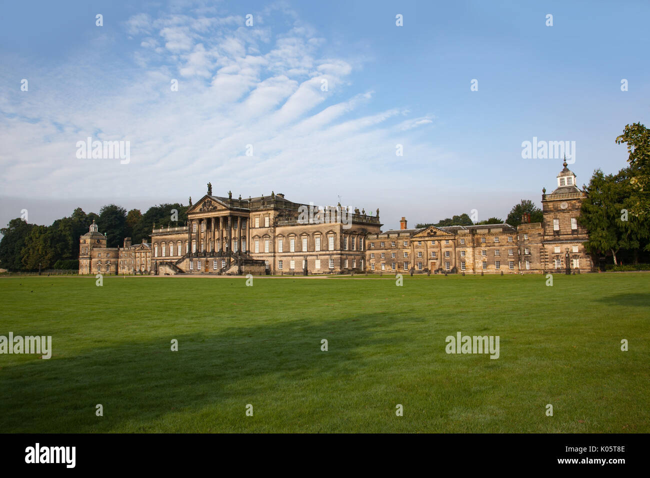 Wentworth Woodhouse, South Yorkshire, UK. 21st August 2017. Stately home currently being restored. Stock Photo