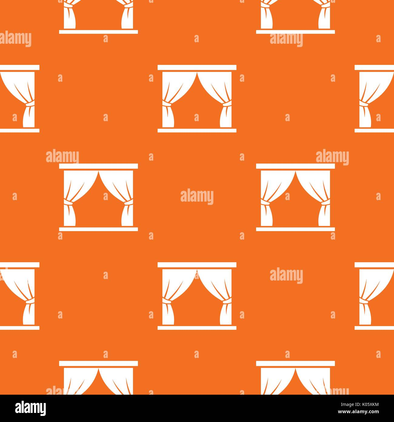 Curtain on stage pattern seamless - Stock Vector