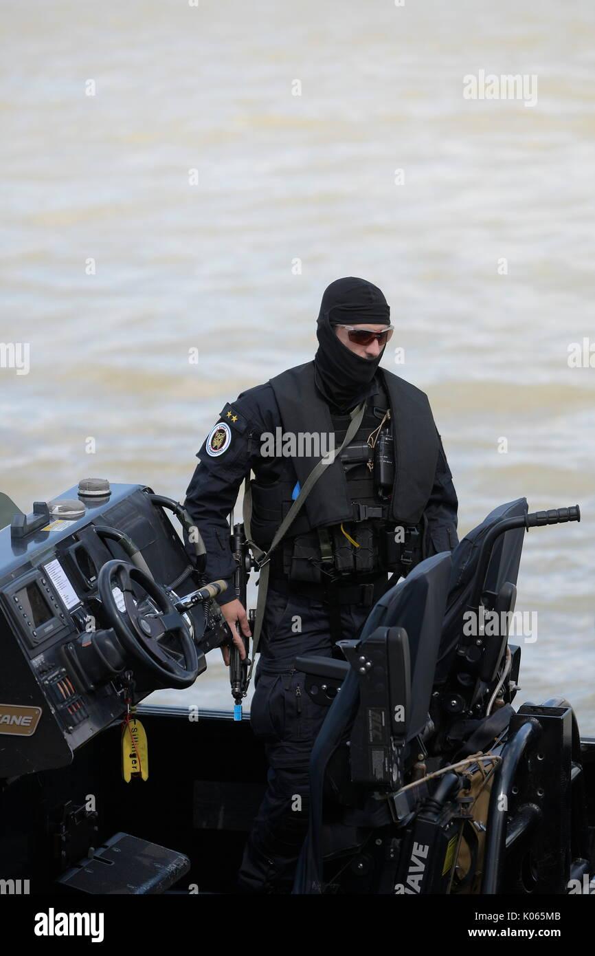Vienna, Austria. 21st Aug, 2017.   EKO Cobra / DSE and international police special units from Germany, Slovakia, Stock Photo