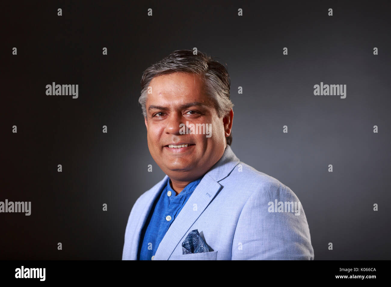 Edinburgh, Scotland, UK. 21st Aug, 2017. Day 10 Edinburgh International Book Festival. Pictured: Vivek Singh, London-based Indian chef, restaurateur, and media personality known for his innovative take on Indian cuisine. Credit: Pako Mera/Alamy Live News - Stock Image