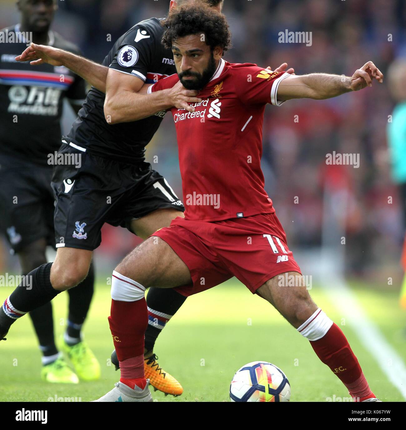 Mohamed Salah Liverpool Fc Liverpool Fc Anfield Liverpool England 19 Stock Photo Alamy