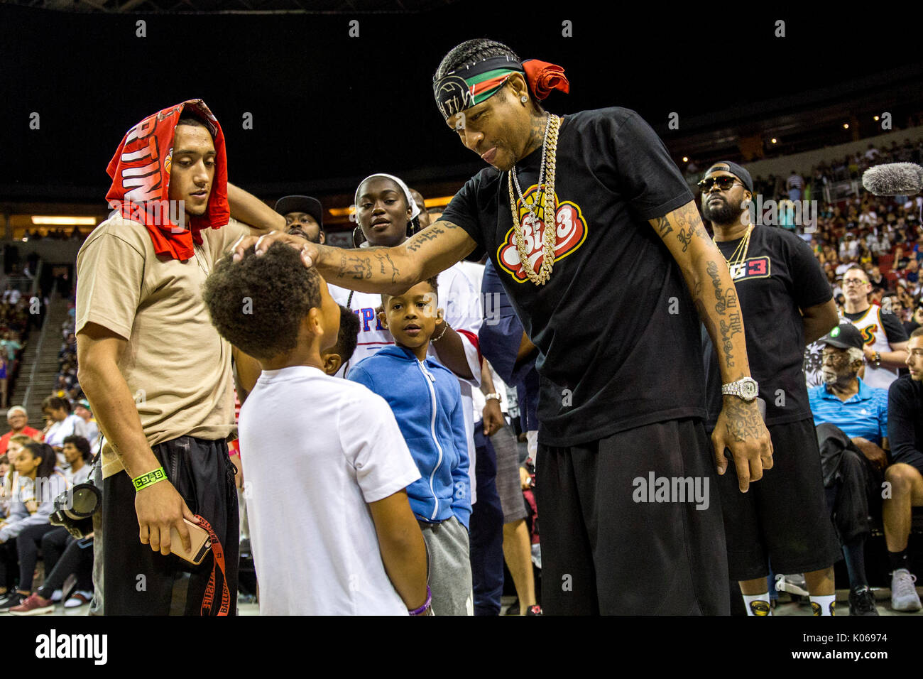 new products 5c33e 87b3e Allen Iverson speaks young fans week nine BIG3 three-on ...