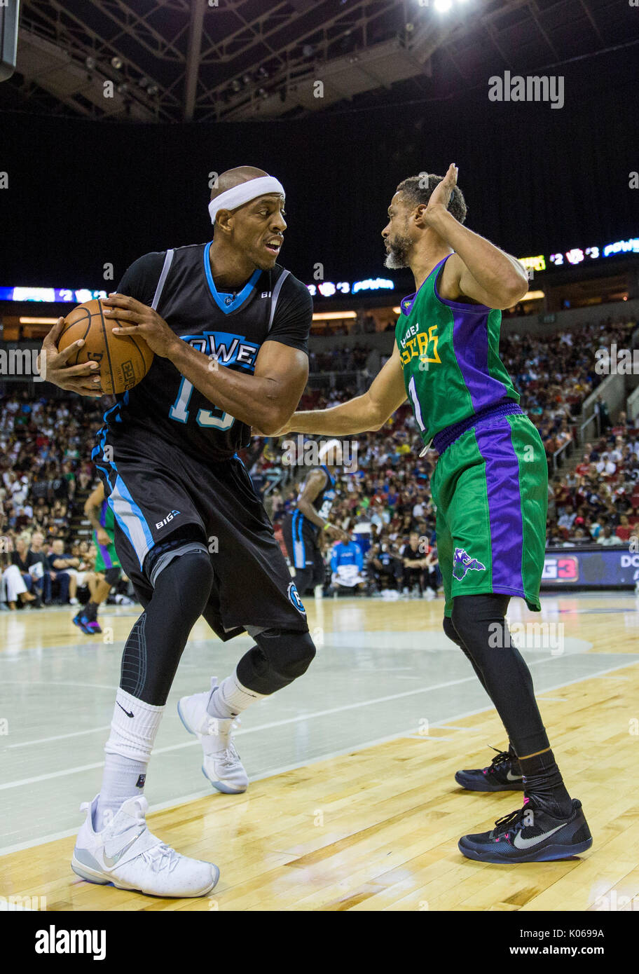 e00c3f36511a Jerome Williams  13 Power attempts to pass ball past Mahmoud Abdul-Rauf  7  3 Headed Monsters week nine BIG3 three-on-three basketball league KeyArena  August ...
