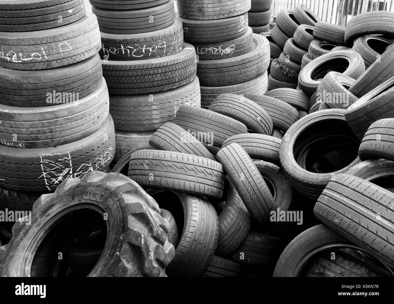 Used Car Tyres Stock Photos Used Car Tyres Stock Images Alamy