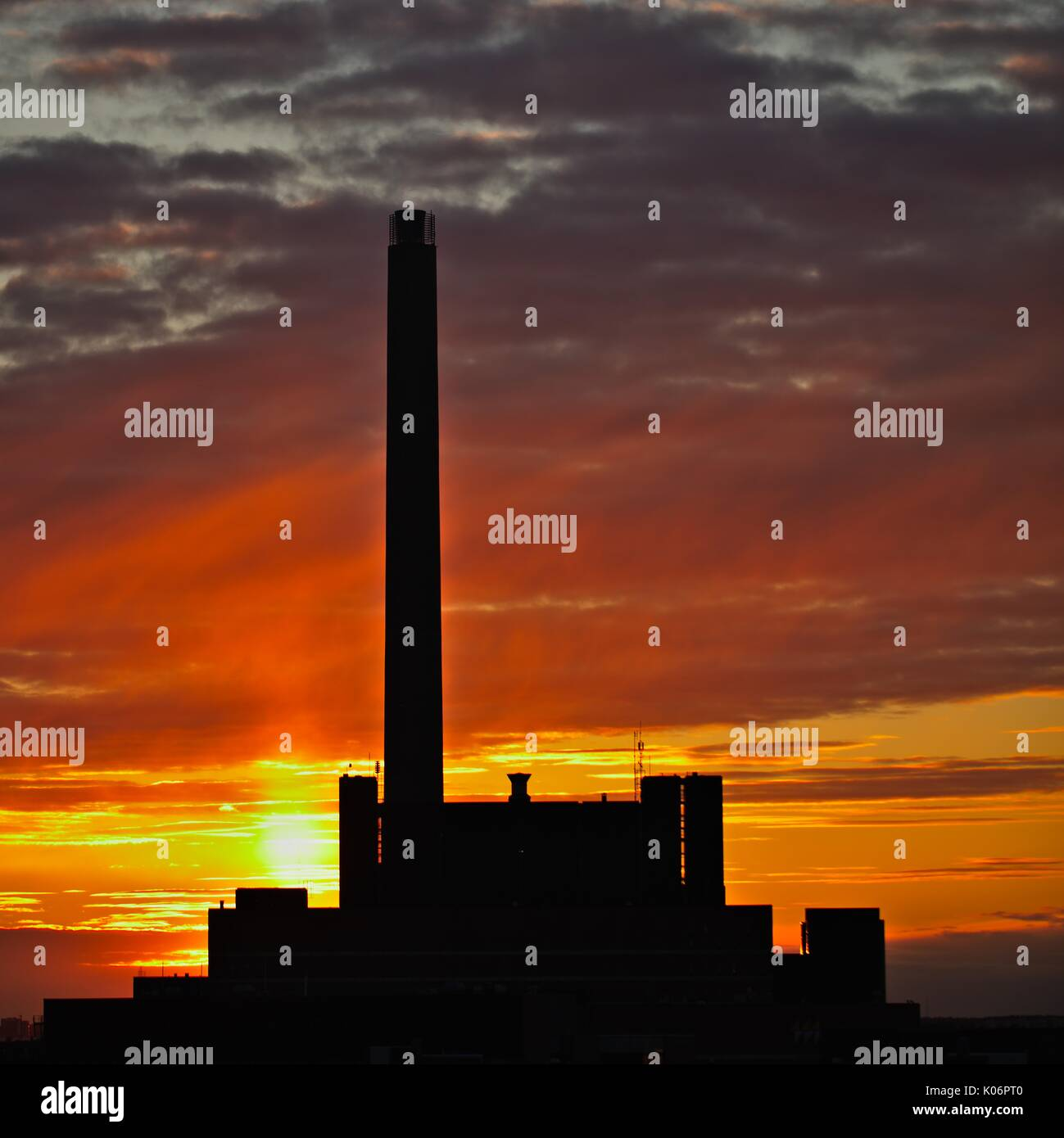 Helen Oy, Helsinki, at sunset - Stock Image