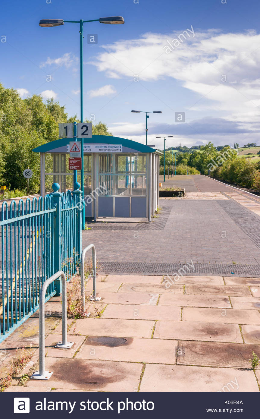 Pontypool and New Inn railway station, Torfaen, Gwent, Wales UK - Stock Image
