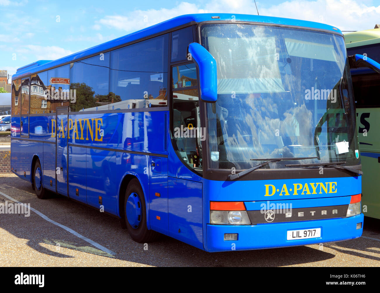 D.A. Payne, coach, coaches, day tips, trip, excursion, excursions, travel company, companies, transport, holidays, travel, England, UK - Stock Image