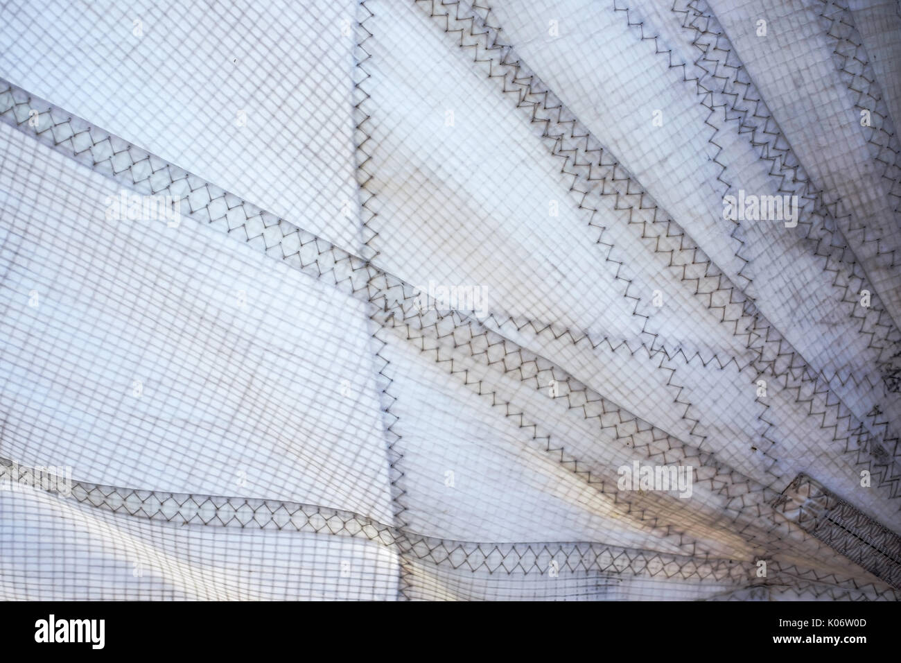 polyester fabric sail - Stock Image