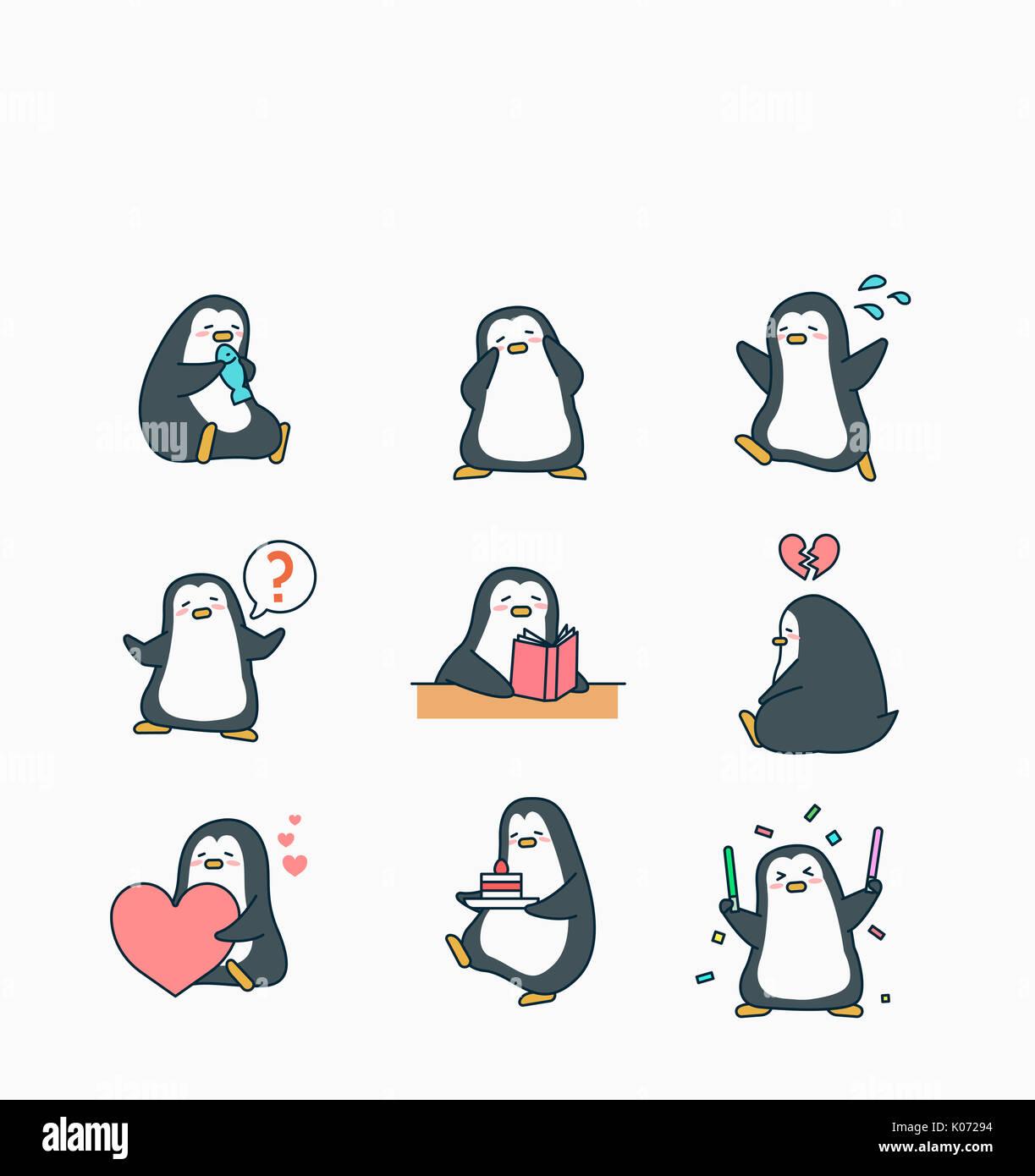 17 Penguin Eating Fish Illustrations, Royalty-Free Vector Graphics & Clip  Art - iStock