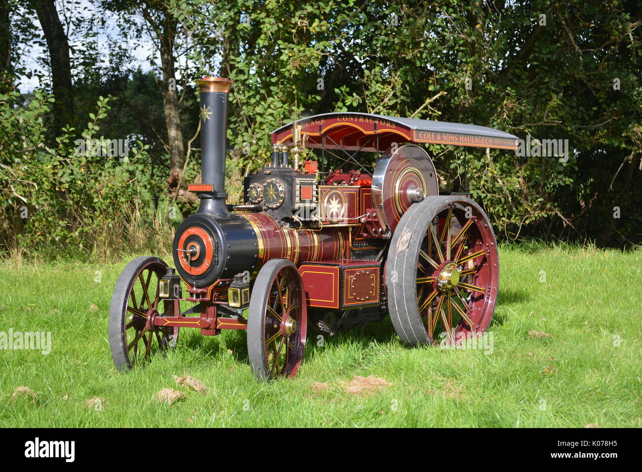 4 inch Scale Burrell Traction Engine - Stock Image