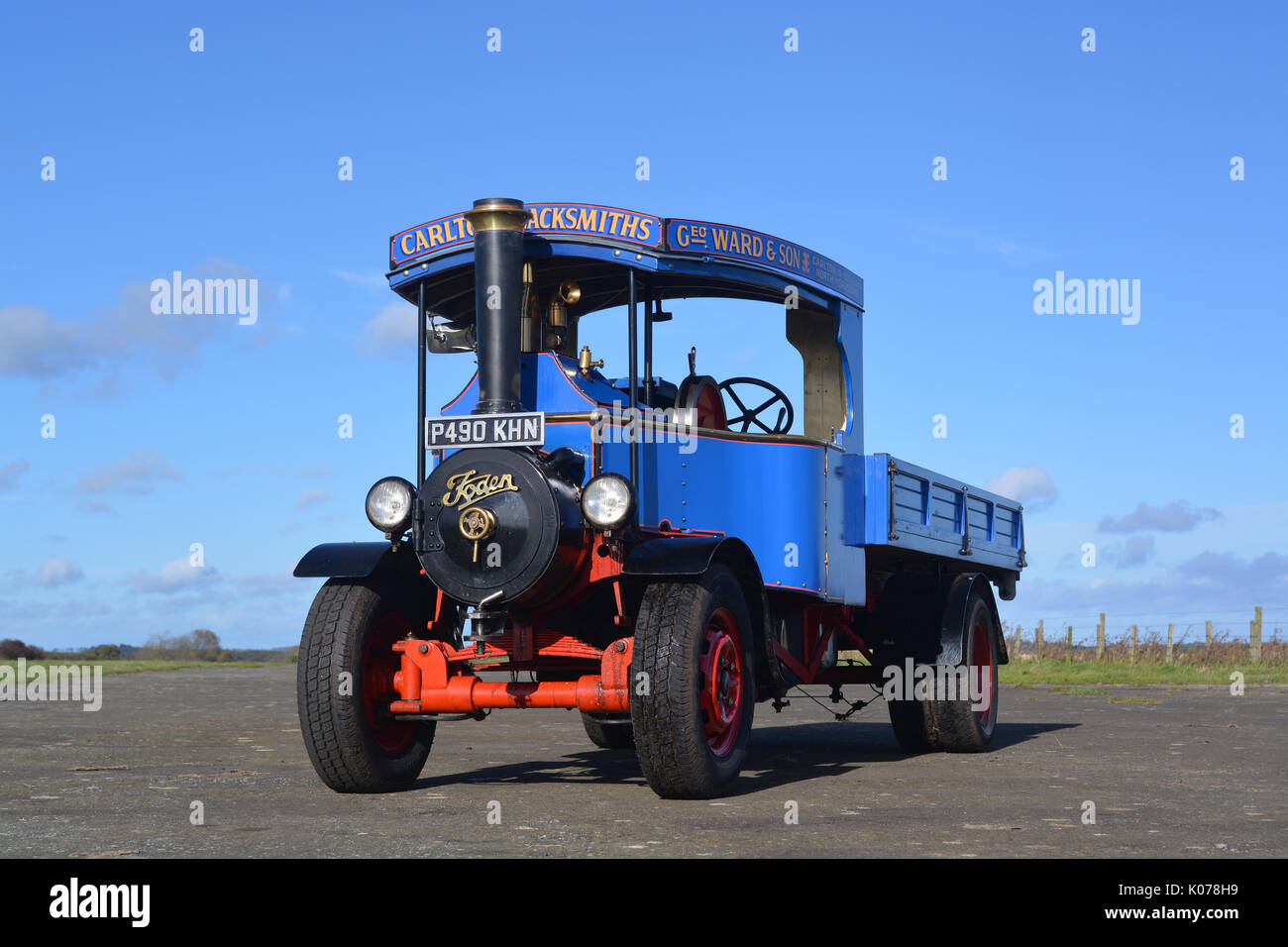 6 inch scale Foden steam wagon - Stock Image